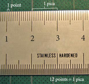 A Pica Ruler! If only...