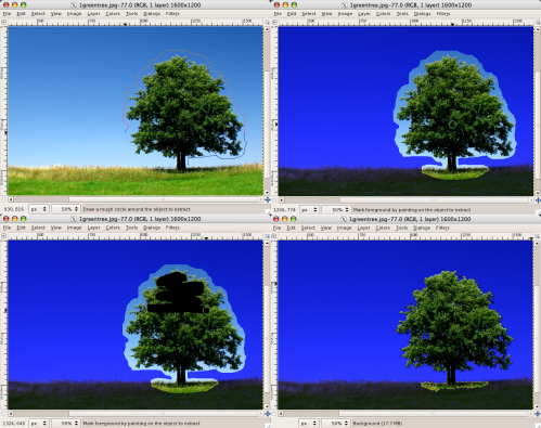 foreground select demonstration
