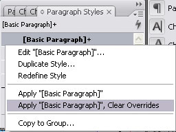 InDesign - Clear Overrides