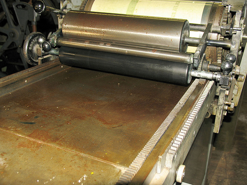 Vandercook SP15 Before Cleaning