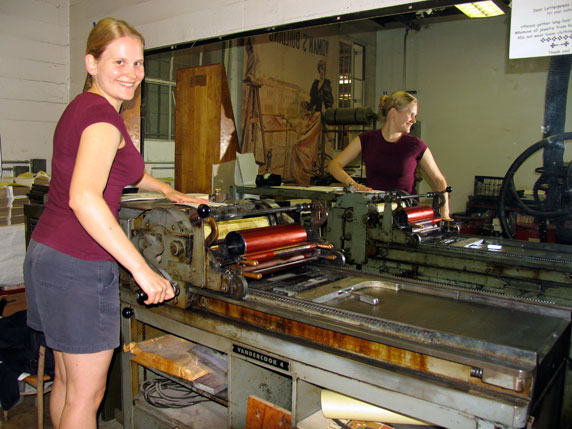 Me and the Vandercook 4