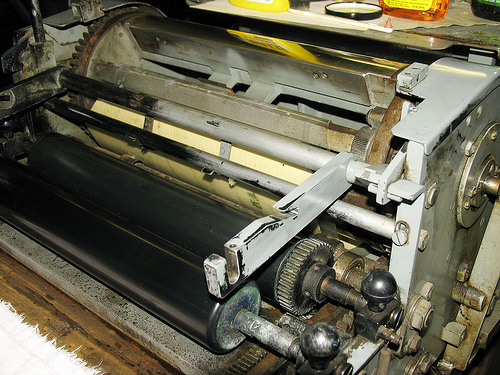 Vandercook SP15 Half Cleaned