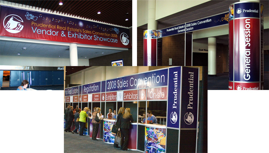 Exhibit Hall Entrance Banner, General Session Entrance Unit, Registration Counters