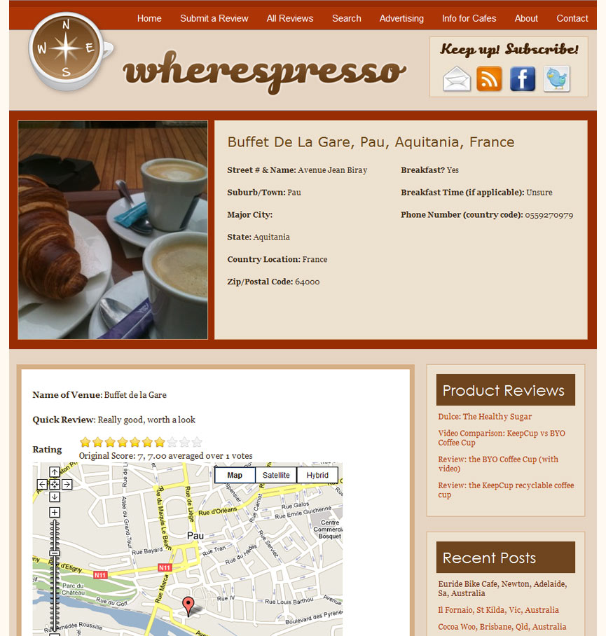 Wherespresso Review Page
